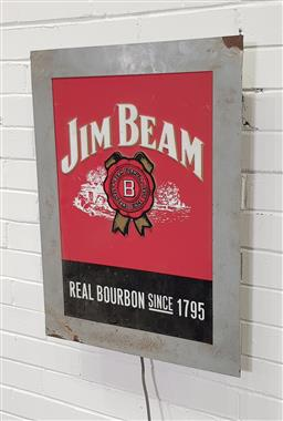 Sale 9146 - Lot 1024 - Jim Beam light box (h:72 x w:55cm)
