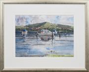 Sale 8411A - Lot 5005 - Frederick Bates (1918 - ) - Lake Macquarie 26.5 x 37cm