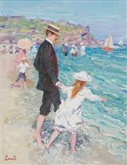 Sale 8519 - Lot 506 - Gerrard Lants (1927 - 1998) - At the Beach 29.5 x 24.5cm