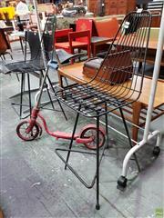Sale 8566 - Lot 1050 - Pair of Metal Bar Stools
