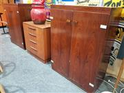 Sale 8908 - Lot 1003 - Pair of Danish Rosewood Cabinets by Arne Vodder