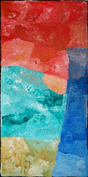 Sale 8947 - Lot 530 - Kudditji Kngwarreye (c1928 - 2017) - My Country 240 x 125 cm (total: 240 x 125 x 4 cm) (stretched and ready to hang)