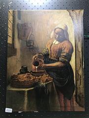 Sale 8981 - Lot 2021 - Johannes Vermeer - Milkmaid, canvas print, 40x30cm