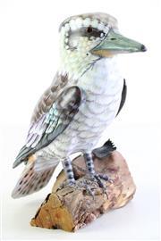 Sale 8985 - Lot 10 - Hand Painted Timber Kookaburra H:23cm