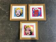 Sale 8990 - Lot 2057 - Set of 3 Pop Art Prints (h:47 x w:47cm)