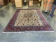 Sale 9051 - Lot 1072 - Persian Kashan with Central Floral Arabesques (250 x 350cm)