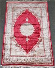 Sale 9071 - Lot 1081 - Super Fine Persian Design Silk Kashan (230 x 160cm)