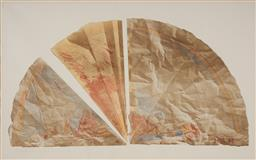 Sale 9161A - Lot 5010 - TIM STORRIER (1949 - ) Paper Fire Danger Fan lithograph, ed. T/P 64.5 x 107 cm (frame: 105 x 96 x5 cm) signed and dated lower left