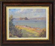 Sale 8382 - Lot 563 - Robert Campbell (1902 - 1972) - View to Clark Island 28.5 x 36cm