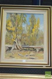 Sale 8425T - Lot 2016 - W. F. Wilson (XX) - Landscape 44.5 x 37cm