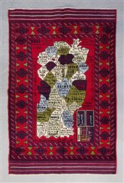 Sale 8499C - Lot 92 - Afghan Map Rug 170cm x 121cm