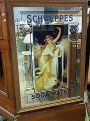 Sale 8562 - Lot 1066 - Schweppes Soda Water Mirror