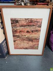 Sale 8573 - Lot 2064 - Eva Marie Barry Dartmoor Framed Collagraph Print SLL; from a collection of his signed & unsigned works