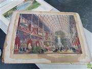 Sale 8613 - Lot 2037 - (3 works) Scenes from Great Exhibition, Crystal Palace Hyde Park 1851, handcoloured lithographs (AF), each 55 x 75cm, Printed/publ...