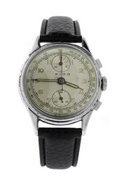 Sale 8618A - Lot 11 - A men's vintage two button chronograph wristwatch by Fido;