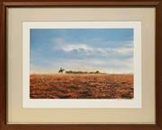 Sale 8699 - Lot 2001 - Jack Absalom (1927 - ) - Mustering 40 x 61cm (frame: 76 x 94.5cm)