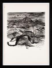 Sale 8782A - Lot 15 - Sidney Nolan, Carcass, lithograph, signed lower right, edition 56/70 frame size 88 x 68cm
