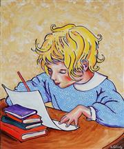 Sale 8821A - Lot 5078 - Nigel Gillings - Study Time 61 x 51cm