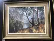 Sale 9024 - Lot 2023 - John Emmett (1927 - ) Evening Peace, Wolgan Riveroil on board 55 x 70cm (frame) signed lower right -