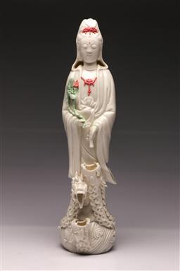 Sale 9107 - Lot 29 - A Blanc De Chine Figure of Guanyin (H 41cm)