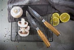 Sale 9211L - Lot 49 - USK Classic Jumbo Steak Knife Set of 2 - Olive Wood Handle