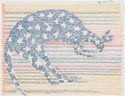 Sale 9221JM - Lot 5006 - CHARLES BLACKMAN (1928 - 2018) Kangaroo Constellation II. 1982 coloured felt tip pen on paper 20 x 27 cm (frame: 35 x 41 x 2 cm) sig...