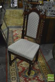 Sale 8398 - Lot 1096 - Set of 10 Barley Twist Dining Chairs