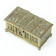 Sale 8412A - Lot 64 - Brass Jewelrey Casket width - 14cm