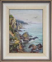 Sale 8411A - Lot 5097 - Wendy Gollan (XX) - Cornish Coastline 44.5 x 34cm