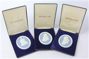 Sale 8604W - Lot 3 - Jasper Medallions-Winston Churchill, Josiah Wedgwood And Nelson