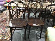 Sale 8795 - Lot 1084 - Set of Six Bentwood Chairs