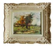 Sale 8891H - Lot 30 - EDMOND DE MEULENAERE (1884 - 1963) Belgium - Impressionist Landscape 21.0 x 27.0cm