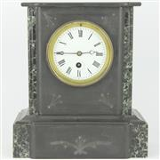 Sale 8342 - Lot 46 - French Black Slate Mantle Clock