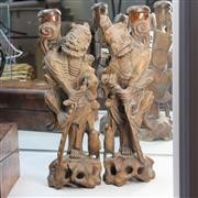 Sale 8351 - Lot 15 - Japanese Carved Figures