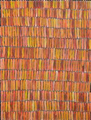Sale 8349A - Lot 20 - Jeannie Mills Pwerle (1965 - ) - Bush Yam 96 x 72cm