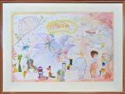 Sale 8363 - Lot 592 - Greg Hyde (1950 - ) - Study II, 1986 77 x 102cm