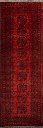 Sale 8455C - Lot 53 - Afghan Qunduzi Runner 300cm x 95cm
