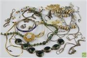 Sale 8490 - Lot 358 - Tray Of Vintage And Other Jewellery Including Silver