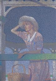 Sale 8518 - Lot 2028 - David Mark Hadley - Australian Girl Sun Hat, 1988 47.5 x 33cm
