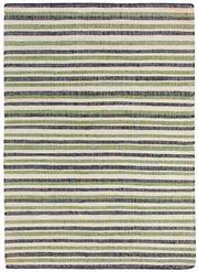 Sale 8651C - Lot 68 - Colorscope Collection; Flatweave Jute and Cotton - Black/Green Stripe Rug, Origin: India, Size: 160 x 230cm, RRP: $499