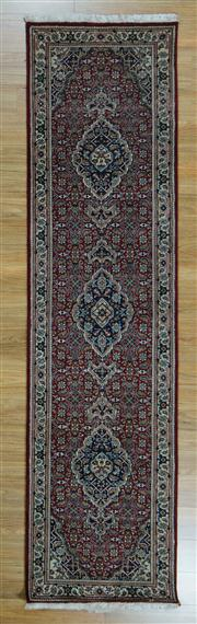Sale 8657C - Lot 79 - Indian Bijar 302cm x 78cm