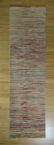 Sale 8672C - Lot 57 - Afghan Chobi Stripe 303cm x 96cm