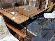 Sale 8697 - Lot 1071 - Large Timber Top Table over Wrought metal base