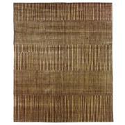 Sale 8912C - Lot 43 - Nepal Bamboo Stripes Carpet in Brown/Gold, 250x300cm, Handspun Wool/Silk