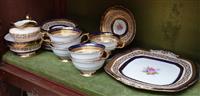 Sale 8963H - Lot 17 - A Paragon tea set including cake plate, sugar and creamer