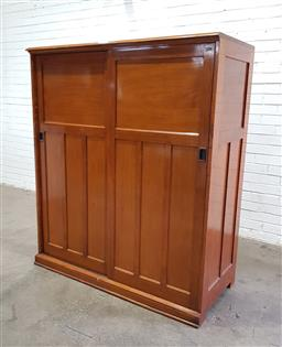 Sale 9117 - Lot 1023 - Maple 48 drawer entomology cabinet, nine drawers missing (h:160 x w:136 x d:60cm)