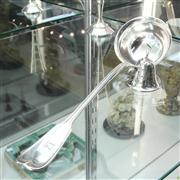 Sale 8304 - Lot 12 - English Hallmarked Sterling Silver Hat Pin Holder with a Silver Plated Ladle