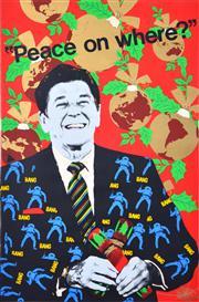 Sale 8433 - Lot 2082 - Deja Vu Poster Workshop - Peace on Where? 75.5 x 50.5cm