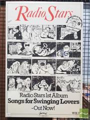 Sale 8421 - Lot 1009 - Vintage and Original Radio Stars Song for Swinging Lovers Promotional Poster (75.5cm x 50.5cm)