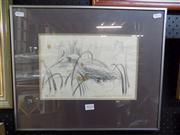 Sale 8437 - Lot 2024 - Stephen Walker (XX) - Waterbirds 19 x 29cm